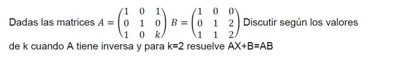 como resolver ecuaciones matriciales 3x3 con parámetros