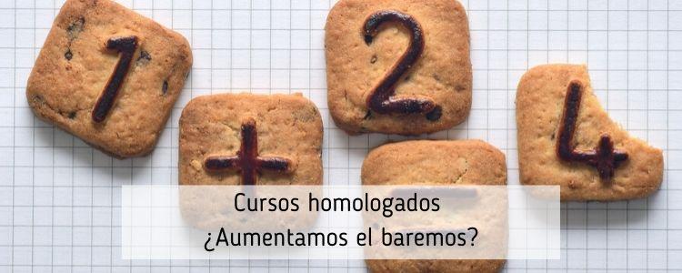 CURSOS HOMOLOGADOS PARA EL BAREMO DE OPOSICIONES