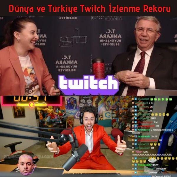 Dünya ve Türkiye Twitch İzlenme Rekoru