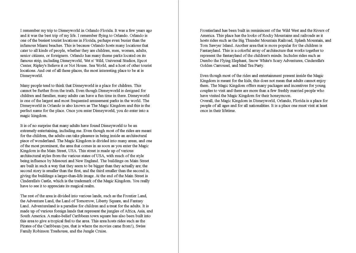 third person narrative essay