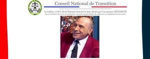 Eric Fiorile, président du Conseil National de Transition arrêté à Paris.