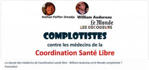 Riposte des médecins de Coordination santé libre – Peiffer-Smadja, Audureau et le Monde complotistes ?