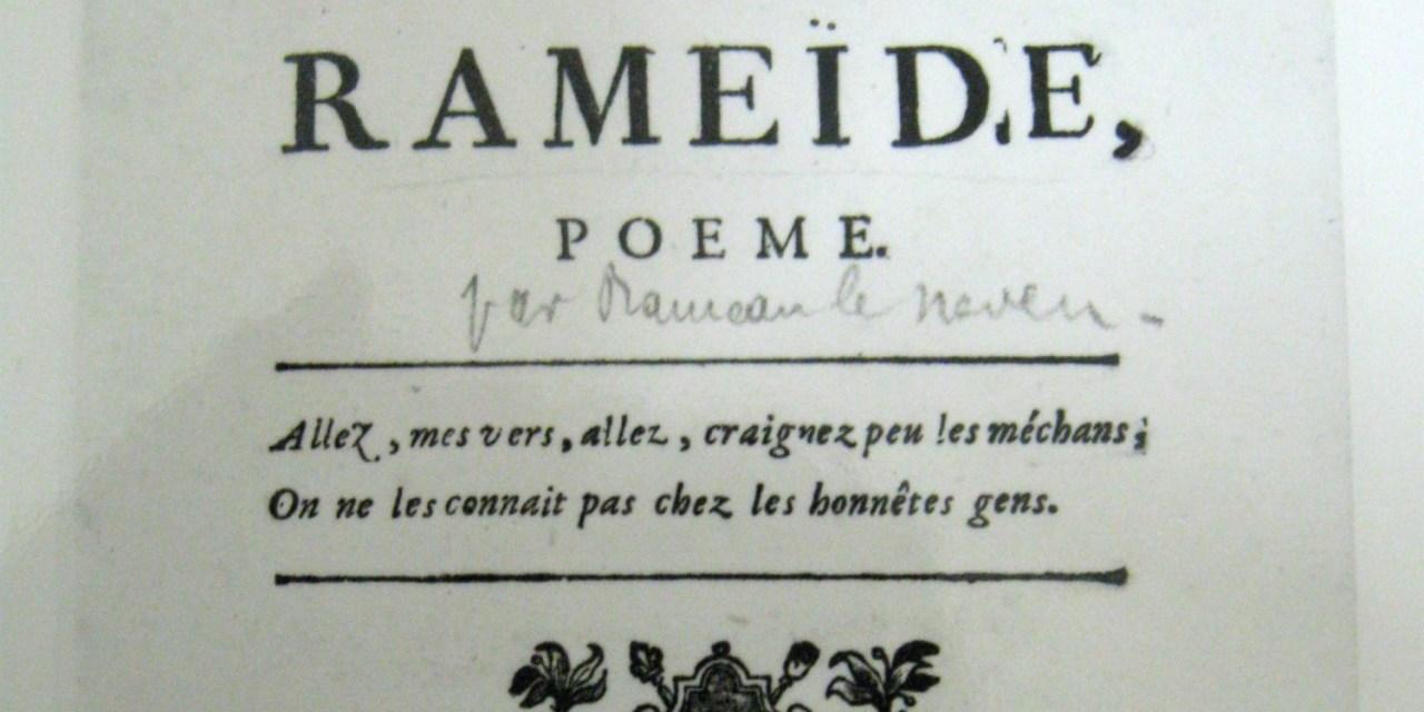 30 janvier 1716 – 30 janvier 2016 : Jean-François Rameau à la fête