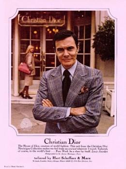 Égérie de Dior dans les années 70