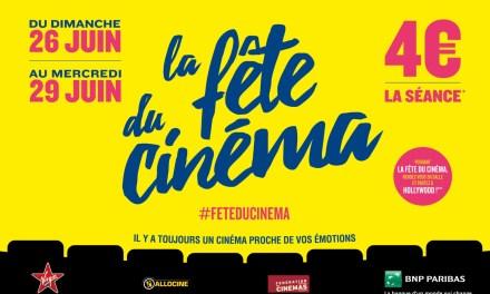 Du 24 au 29 juin : grande fête du cinéma 2016