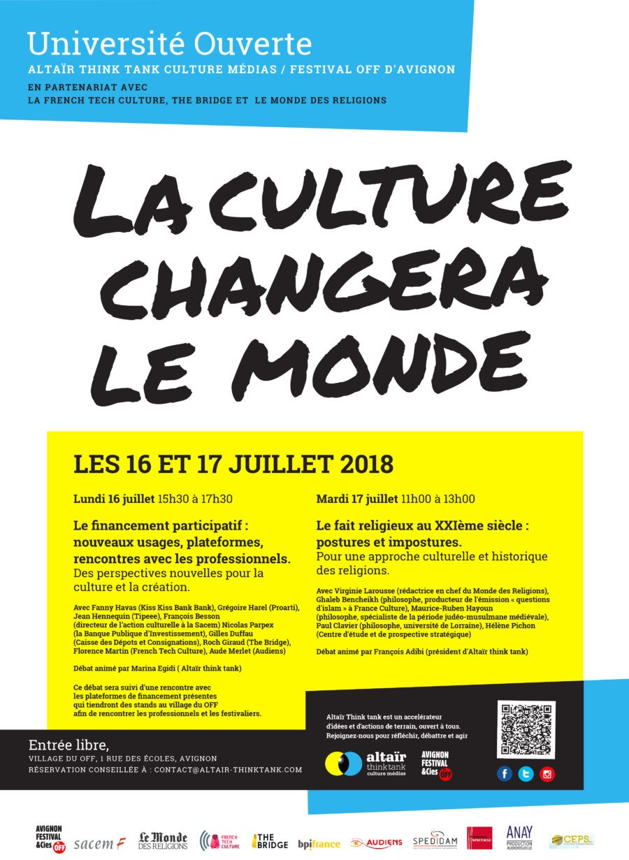 Altaïr think tank - Festival Avignon 2018