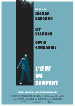 Ingmar Bergman, L'Œuf du serpent, avec Liv Ulmann, David Carradine (affiche)