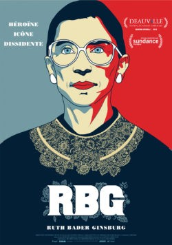 Betsy West et Julie Cohen, RBG - Ruth Bader Ginsburg, documentaire affiche