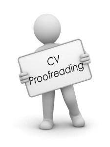CV proofreading service