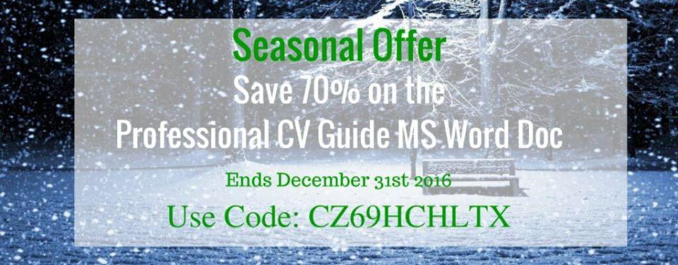 Professional CV Discount Code