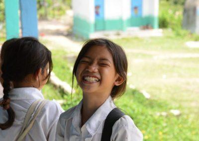 Volunteer teaching in the remote islands of Cambodia