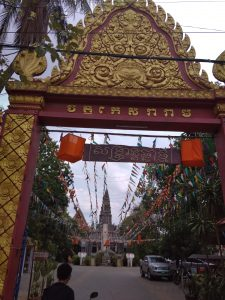 Temple at Khmer New Year
