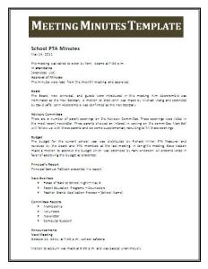 meeting minutes template professional word templates