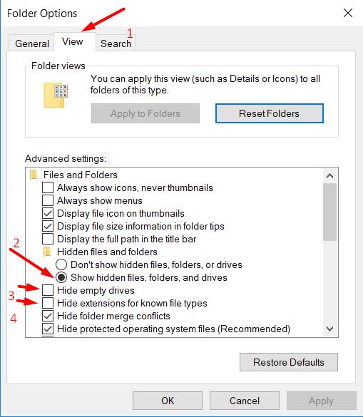 Folder Options Windows