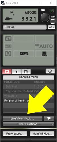 EOS Camera setting