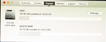 Storage macOS