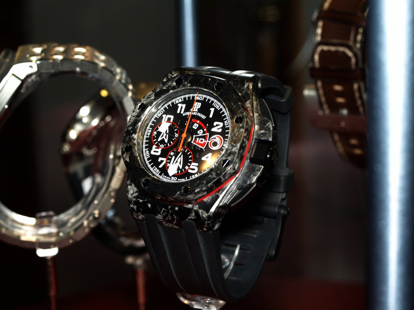 AP Team Alinghi Royal Oak Offshore Forged Carbon in museum
