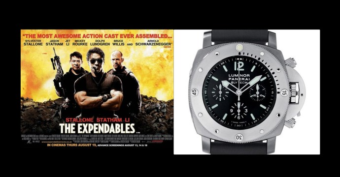 Sylvester Stallone wears Panerai in Expendables