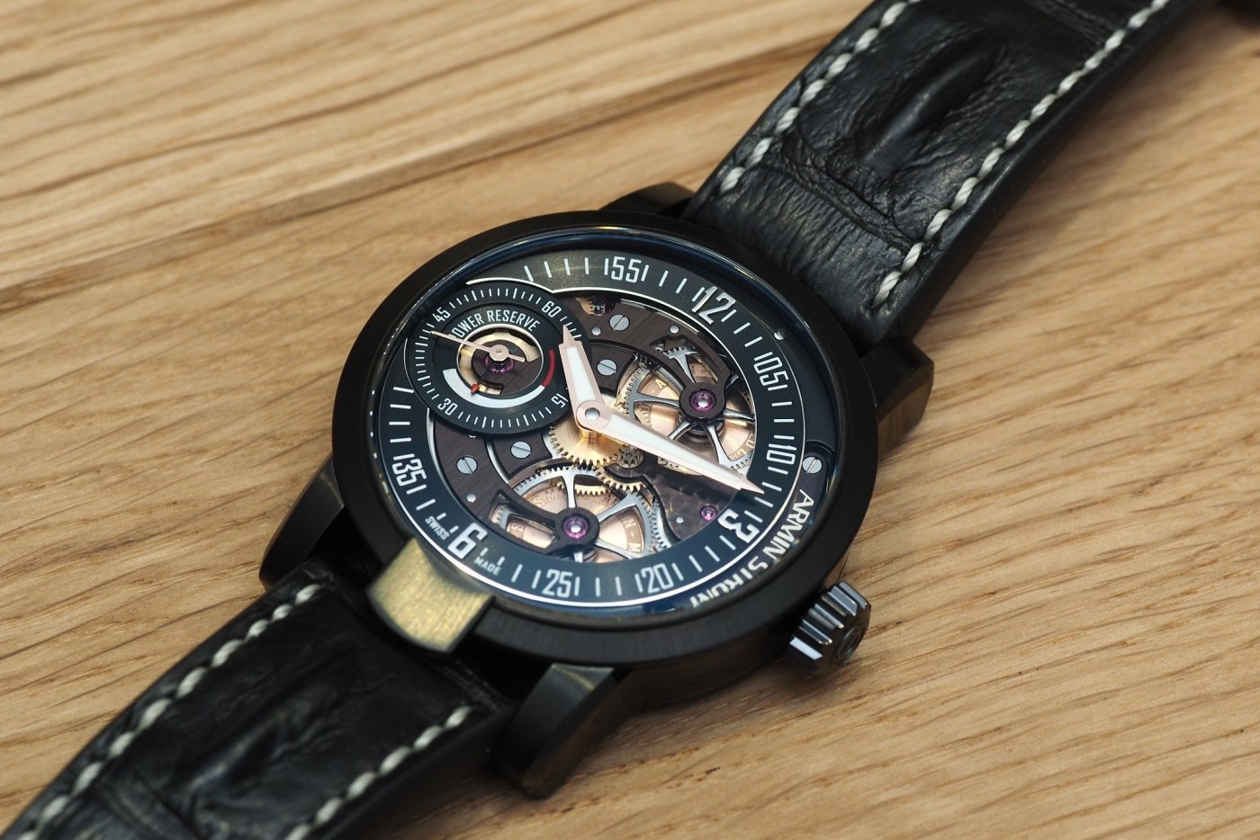 Armin Strom Manual with brown PVD movement