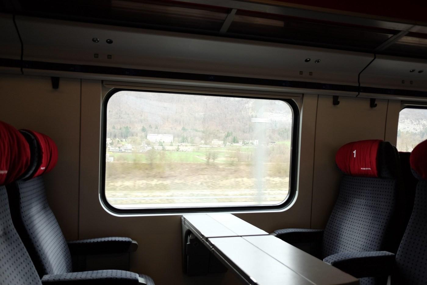 Train ride from Basel Switzerland to Biel/Bienne