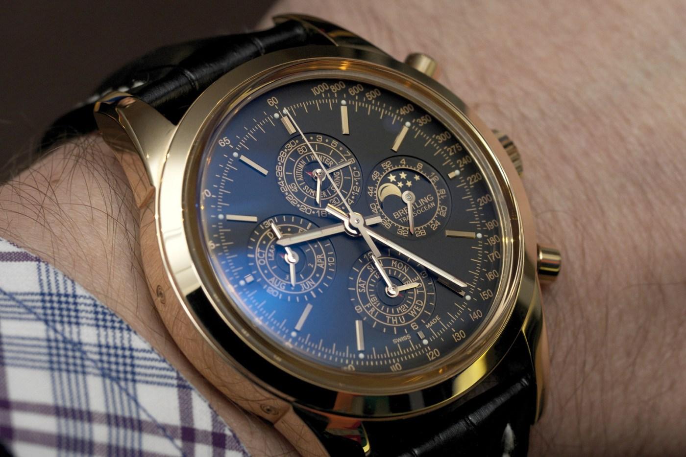 Breitling Trasnocean Perpetual Gold Wristshot