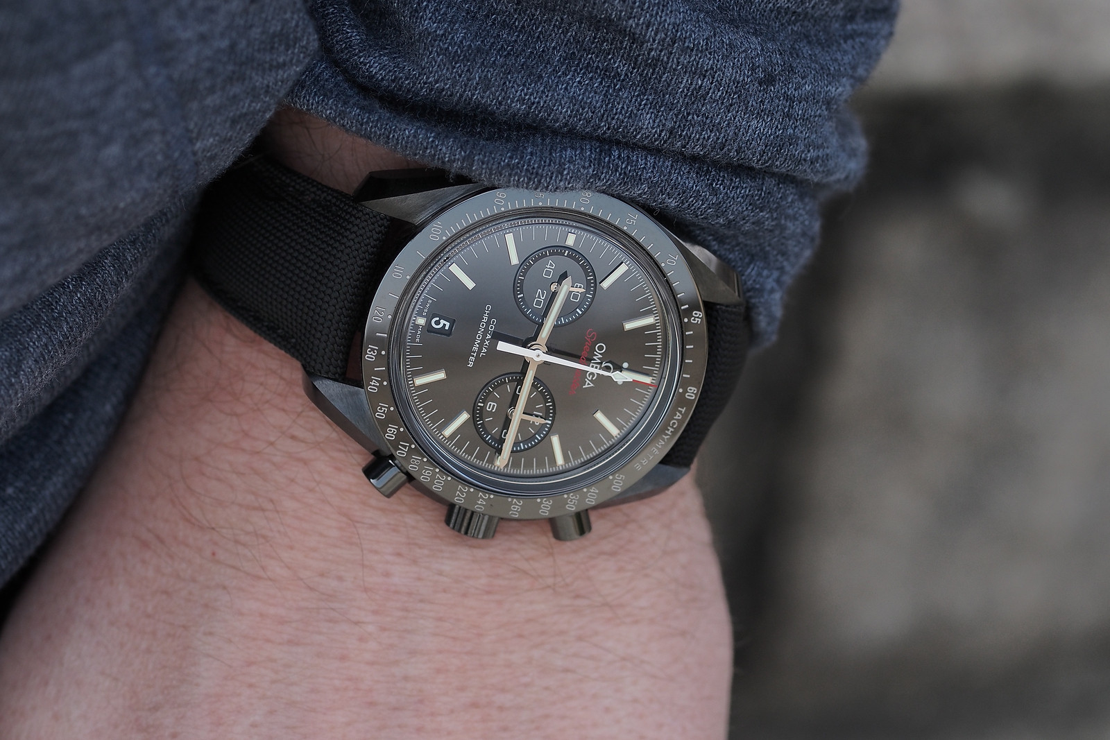Professional Watches Review Omega Speedmaster Quot Dark