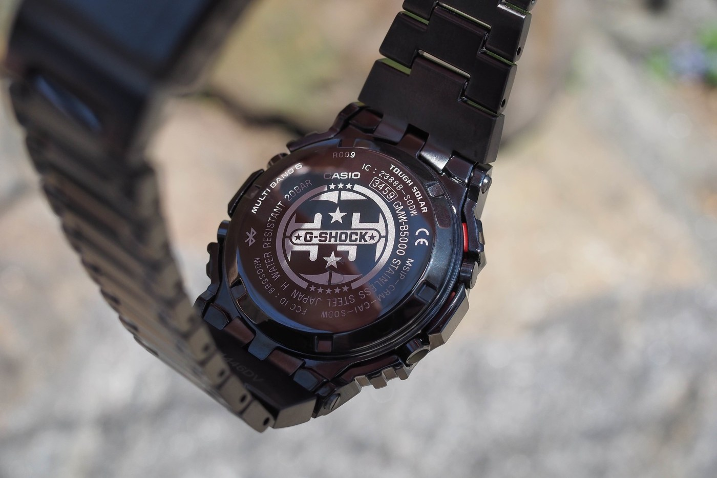 G-Shock Full Metal 5000 Series Black PVD Porter Limited Edition caseback