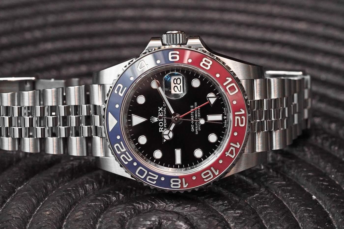 Rolex GMT Master II Pepsi Bezel steel