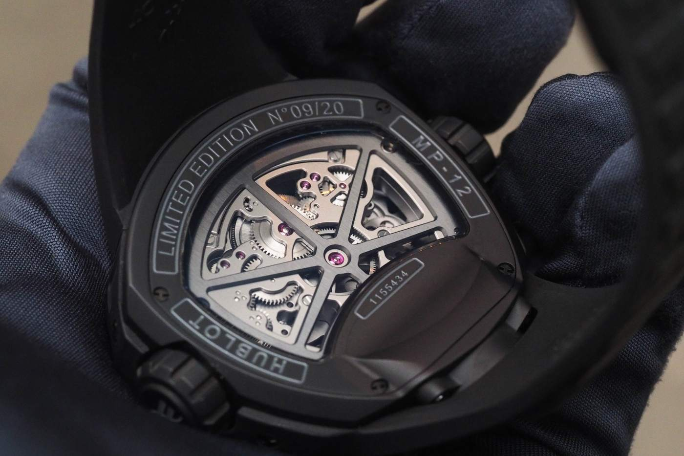 Hublot MP-12 Key of Time Skeleton caseback