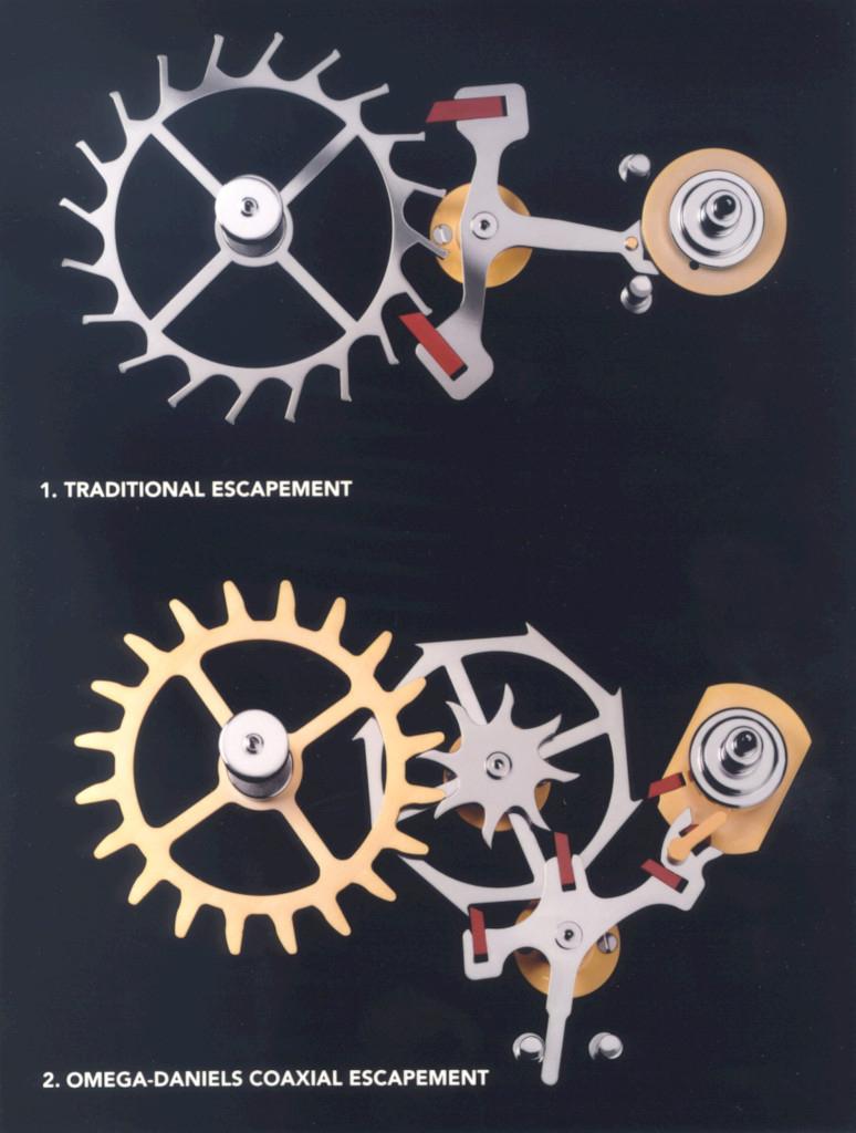 Traditional Escapement versus Co-Axial Escapement