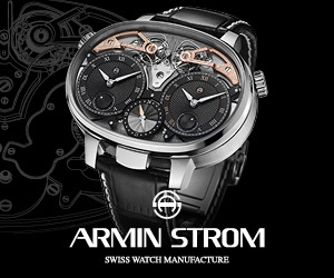 Armin Strom Dual Time Resonance banner ad
