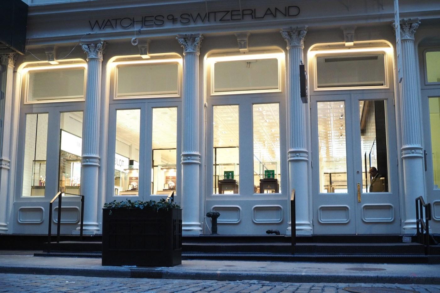 Watches of Switzerland located at 60 Greene Street in SoHo