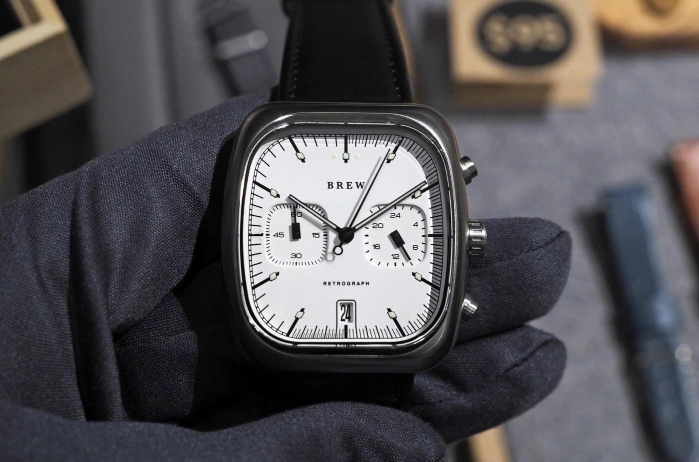 Brew Watches Retrograph Oxford White