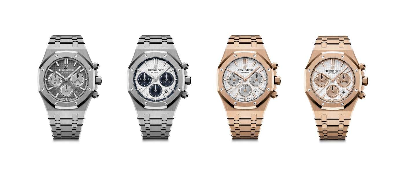 Four new 38 mm Royal Oak Chronograph references