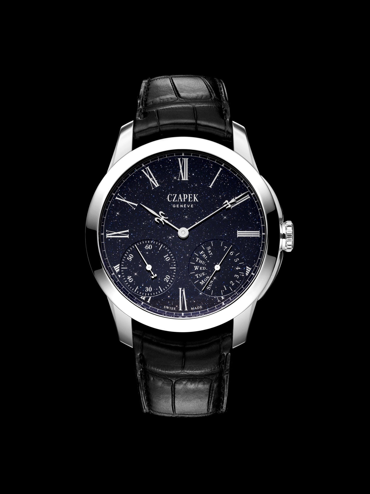 "Czapek Quai des Bergues ""Midnight in Geneva"" aventurine"