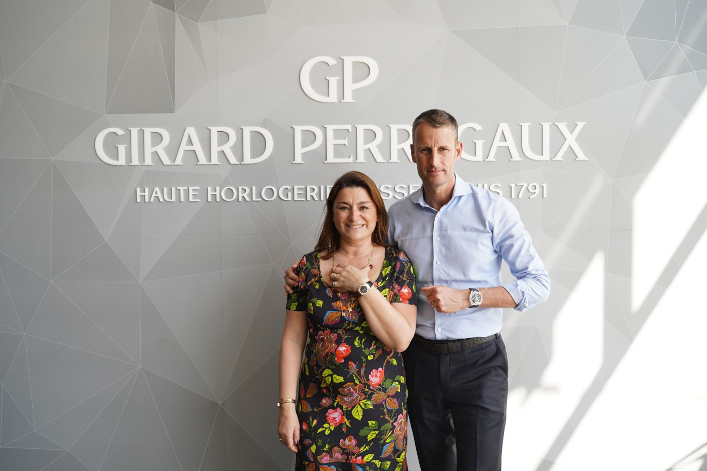 FHH Director Fabienne Lupo and Patrick Pruniaux of Girard-Perregaux