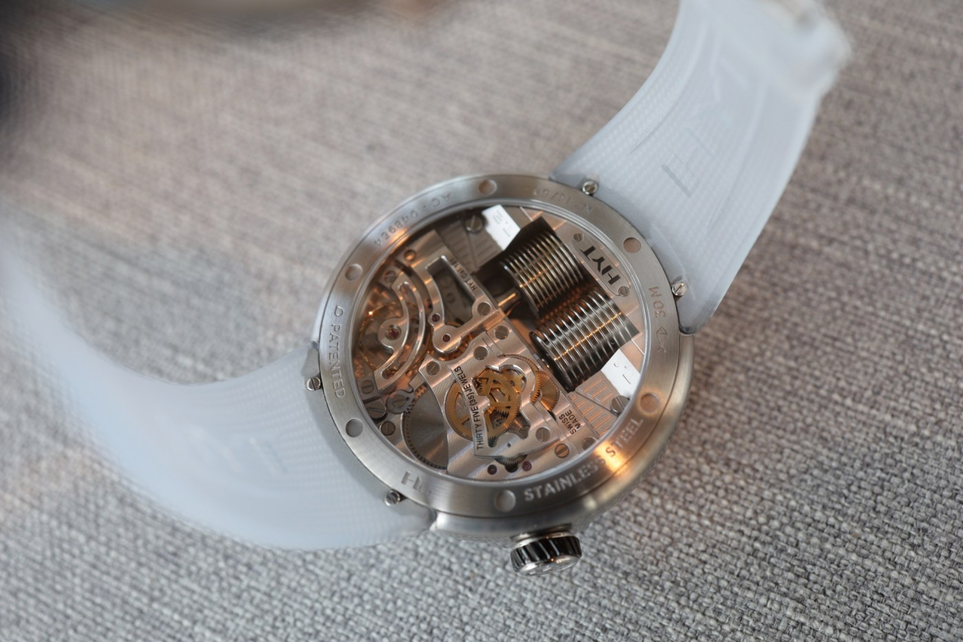 Caseback of the HYT H0