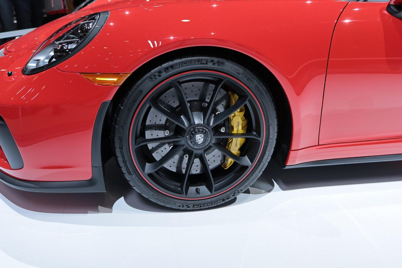 2019 Porsche 911 Speedster wheel close-up