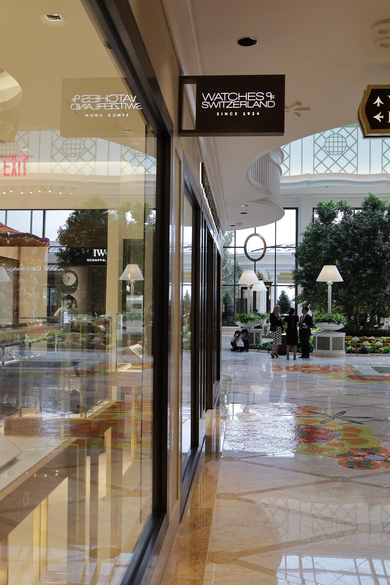 Watches of Switzerland facing Encore lobby