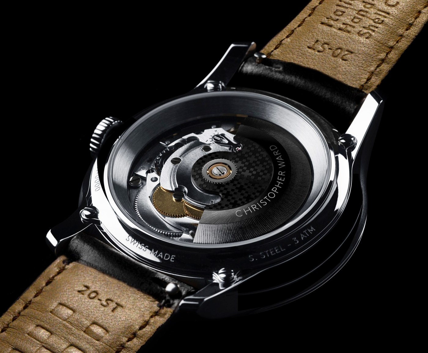 Christopher Ward C1 Moonglow caseback