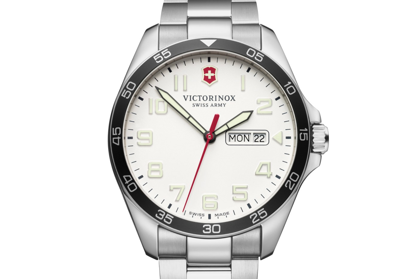 Swissarmy Fieldforce white dial steel bracelet