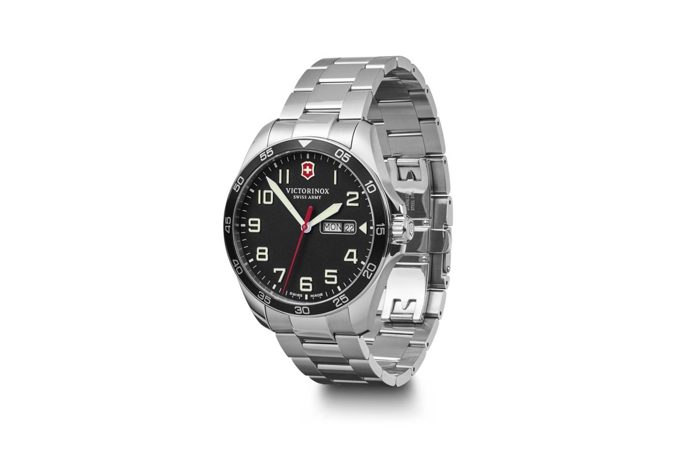 Victorinox FieldForce on stainless steel bracelet