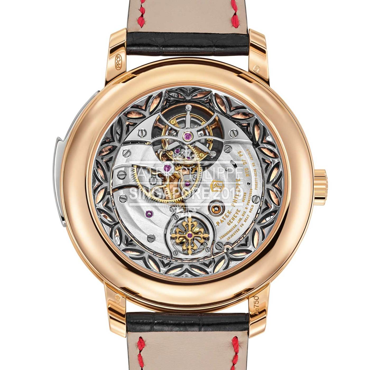 Patek Philippe Minute Repeater Tourbillon Singapore 2019 Ref. 5303R-010 caseback