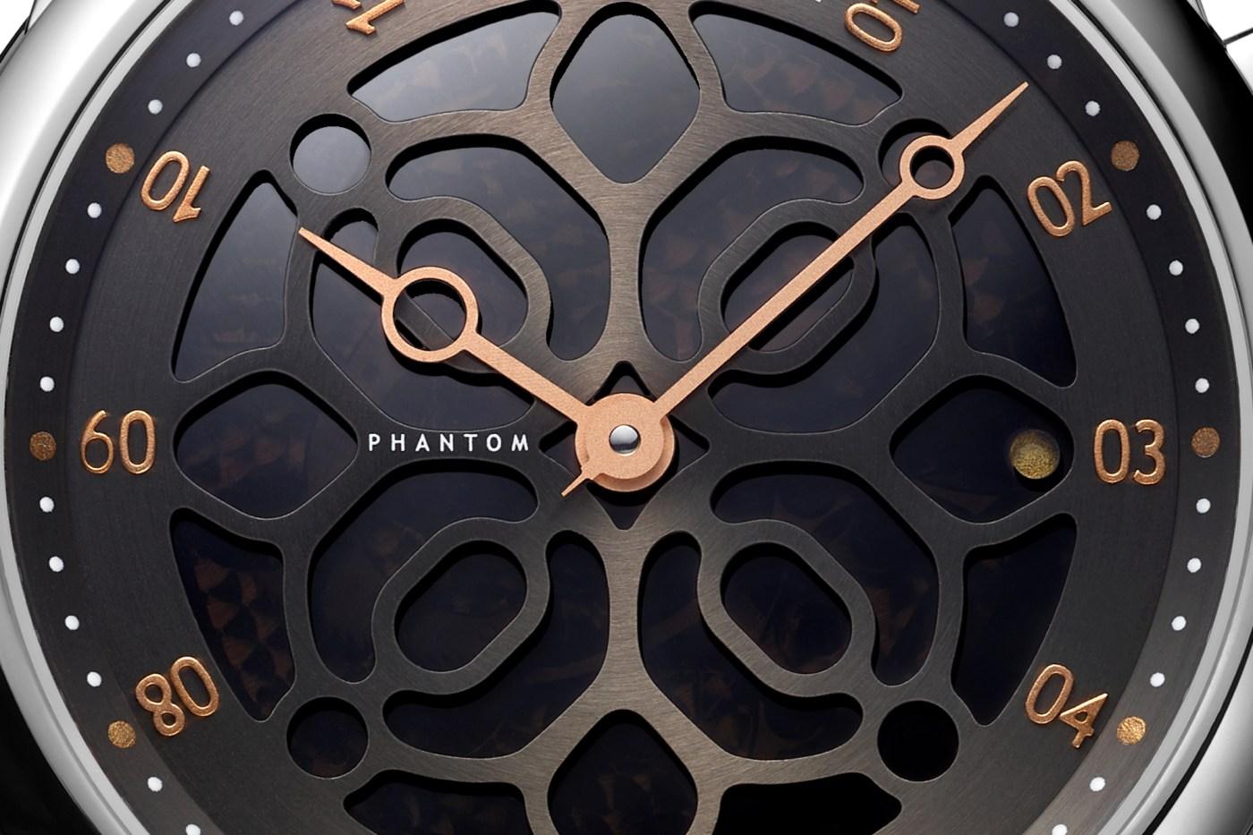 Ulysse Nardin Hourstriker Phantom with Devialet dial close-up