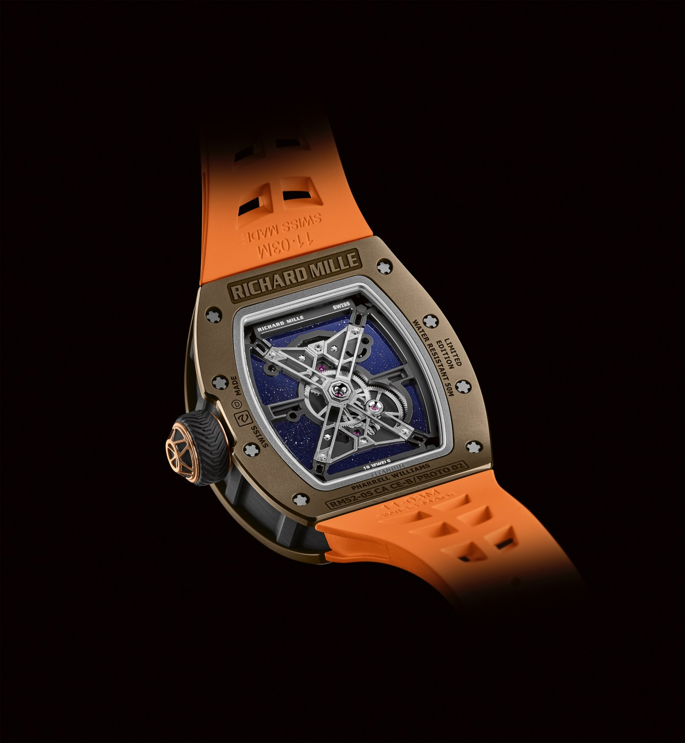 Richard Mille x Pharrell Williams RM 52-05 caseback