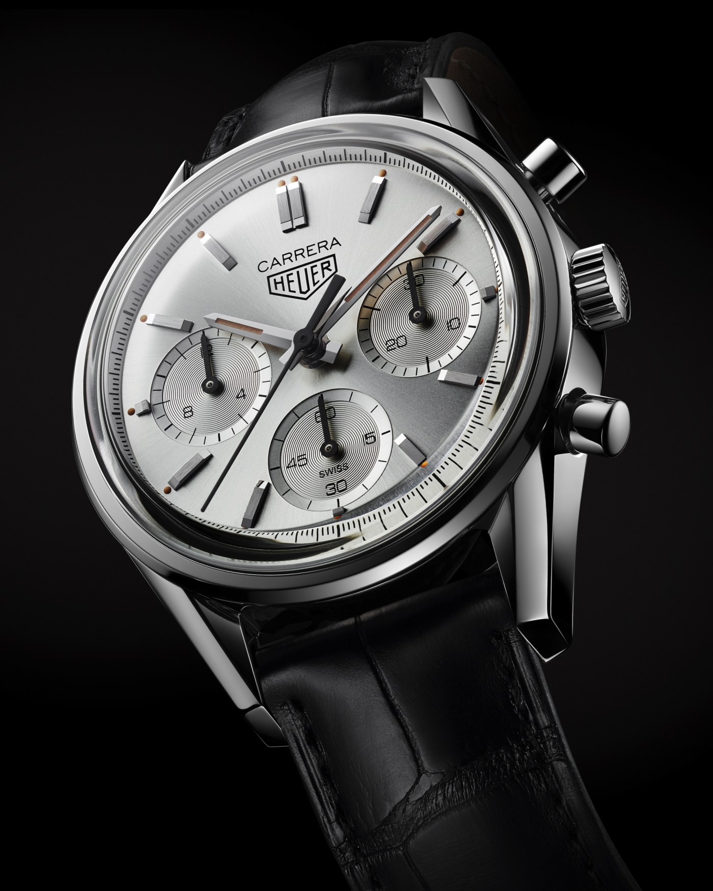 2020 TAG Heuer Carrera Silver Limited Edition angled