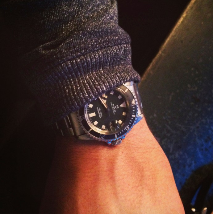 Tudor Snowflake wristshot at Redbar NYC