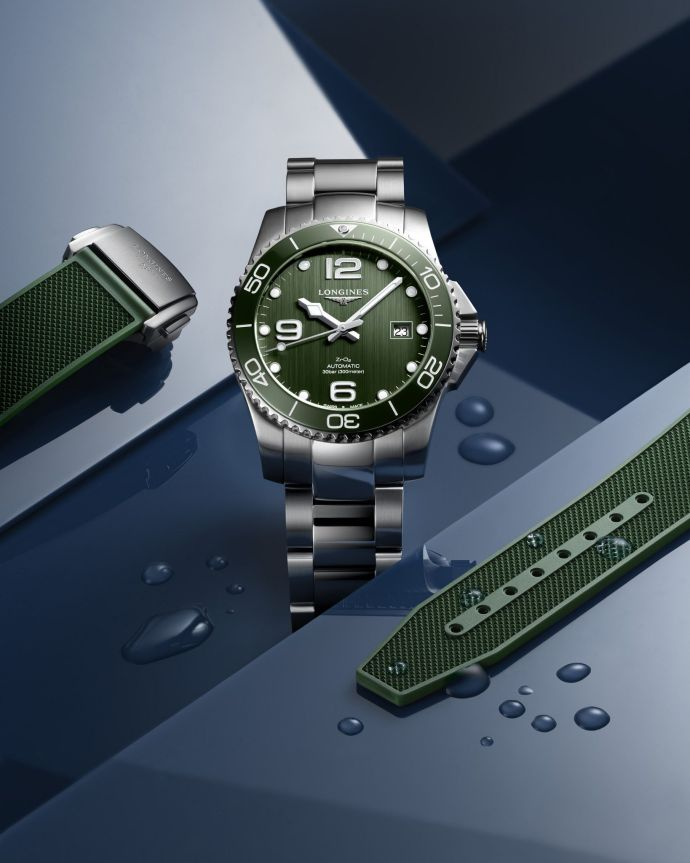 Longines HydroConquest Bright Green ceramic dial