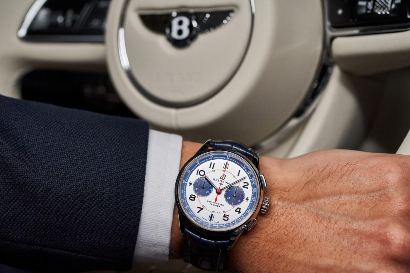 Breitling Premier Bentley Mulliner Limited Edition wristshot