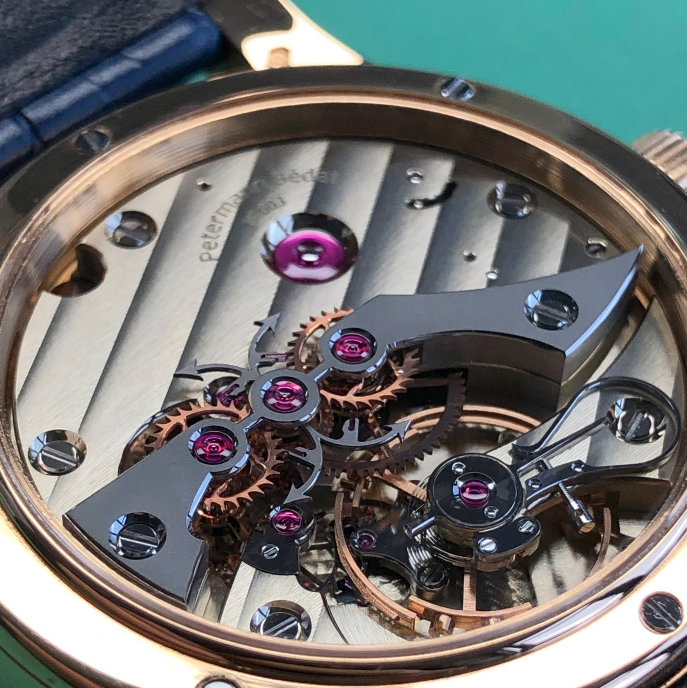 Petermann Bedat 1967 movement detail